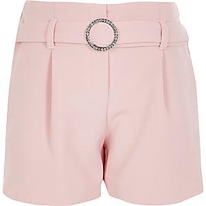Shorts mit Glitzergürtel für Mädchen in Pink