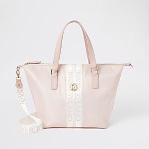 Shopper Tote Bag in Rosa mit RI-Tape für Mädchen
