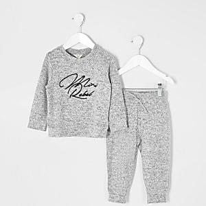 "Mini– Graues Sweatshirt-Outfit ""Mini rebel"" für Jungen"