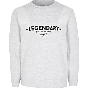 Grijze sweater met 'Legendary'-print voor jongens