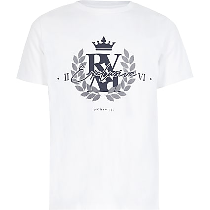 Boys white 'Exclusive' T-shirt