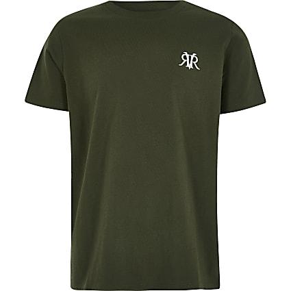 Boys khaki RVR T-shirt