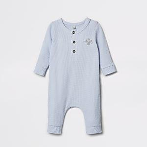 Genouillère bleuegauffréeavec motif couronne pour bébé