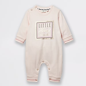 Baby pink 'Little heart breaker' baby grow