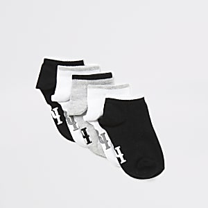 Mini – RI – Graue Socken für Jungen, 5er-Pack