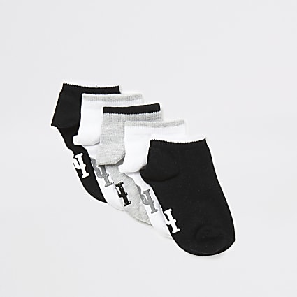 Mini boys grey RI socks 5 pack