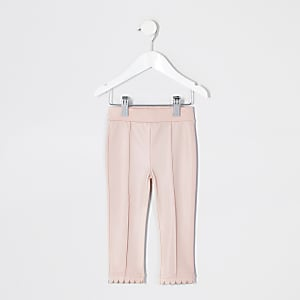 Leggings roses en cuir synthétique Mini fille