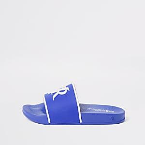 Blauwe slippers met RVR reliëf voor jongens