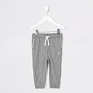 Pantalon de jogging noir pied-de-pouleMini garçon