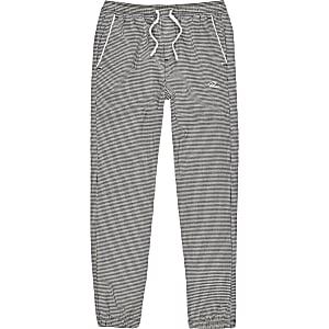 Pantalons de jogging gris pied-de-poule pour garçon
