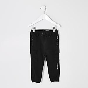 Mini – Prolific – Schwarze Utility-Jogginghose für Jungen