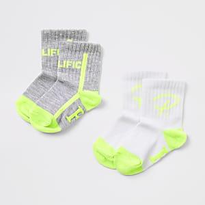 Mini – Prolific – Graue Socken für Jungen, 2er-Pack