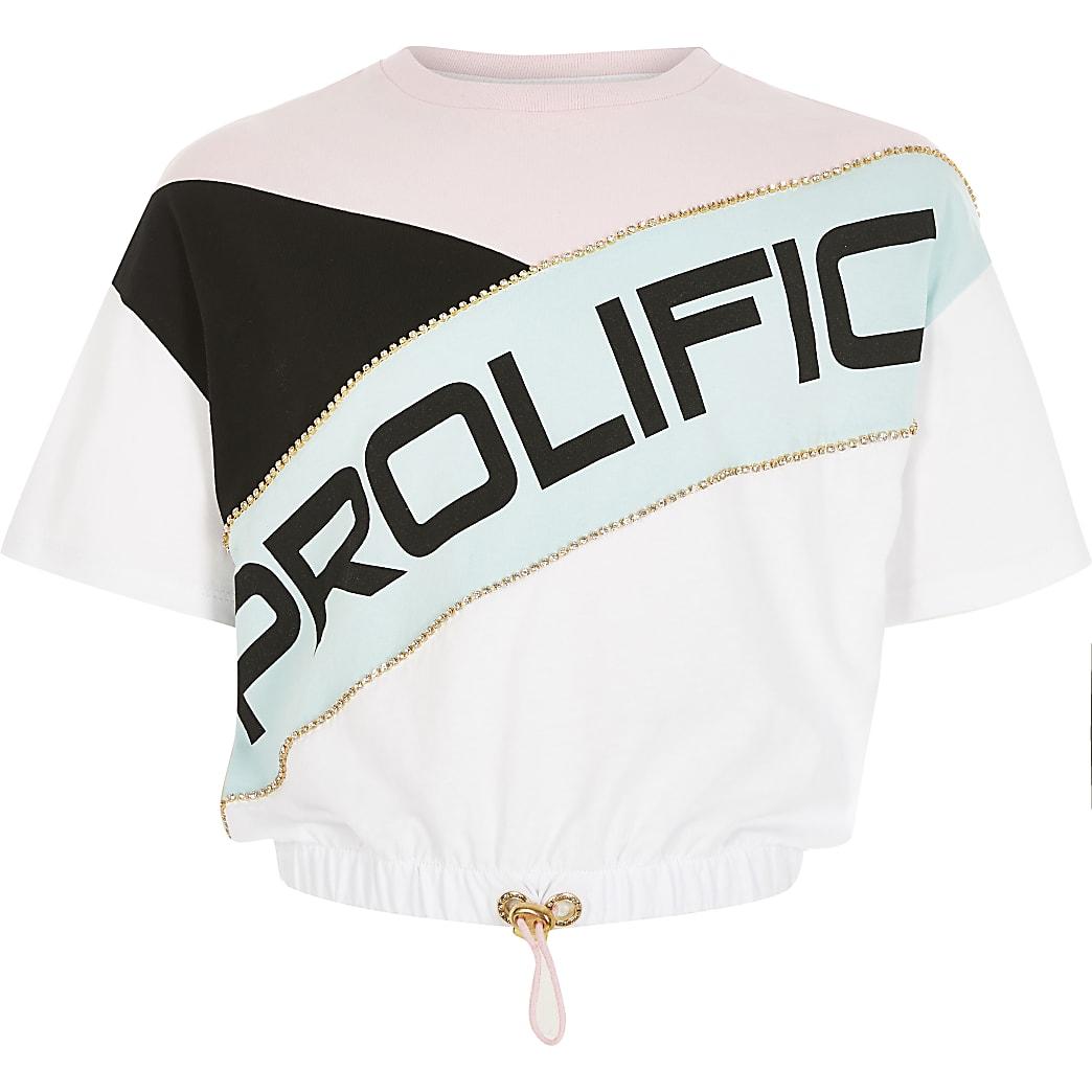 Girls Prolific blocked drawstring T-shirt
