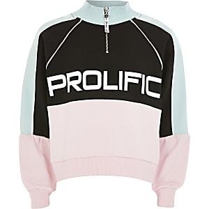 Prolific - Roze sweater met ritskraag voor meisjes