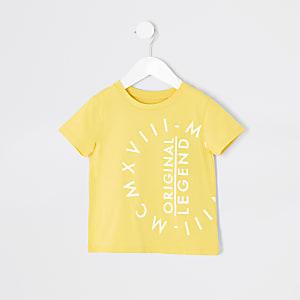 T-shirt jaune MCMXVIIIMini garçon