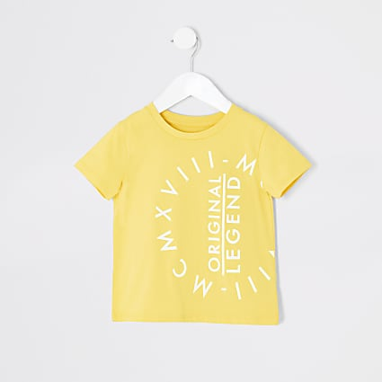 Mini boys yellow MCMXVIII T-shirt