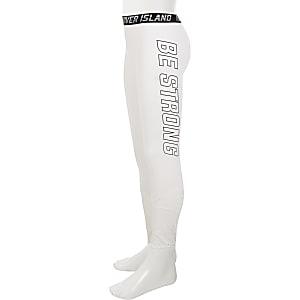 RI Active - Witte legging met meshvlakken voor meisjes