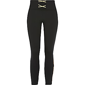 RI Active – Legging noir à lacets fille