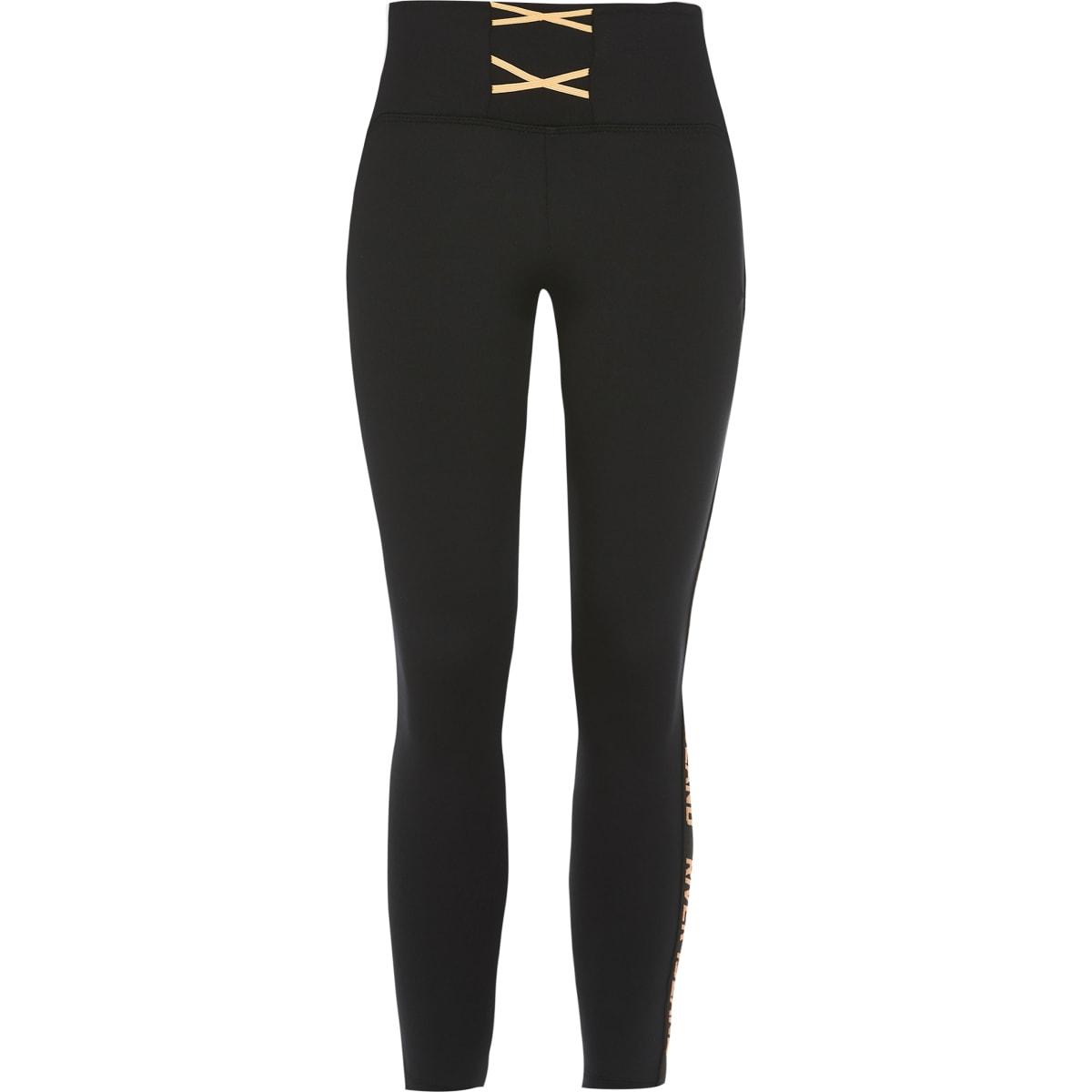 RI Active - Zwarte legging met veters voor meisjes