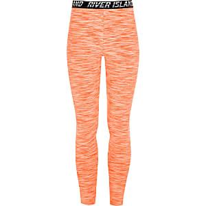 RI Active - Oranje legging met RI-print voor meisjes