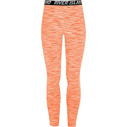 Girls RI Active orange RI leggings