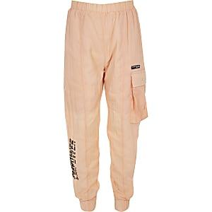 RI Active – Orange Nylon-Jogginghose für Mädchen