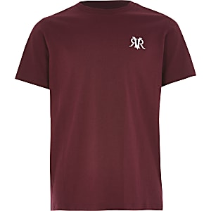 Rotes, kurzärmeliges RVR-T-Shirt für Jungen