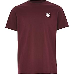 Rood RVR T-shirt met korte mouwen voor jongens