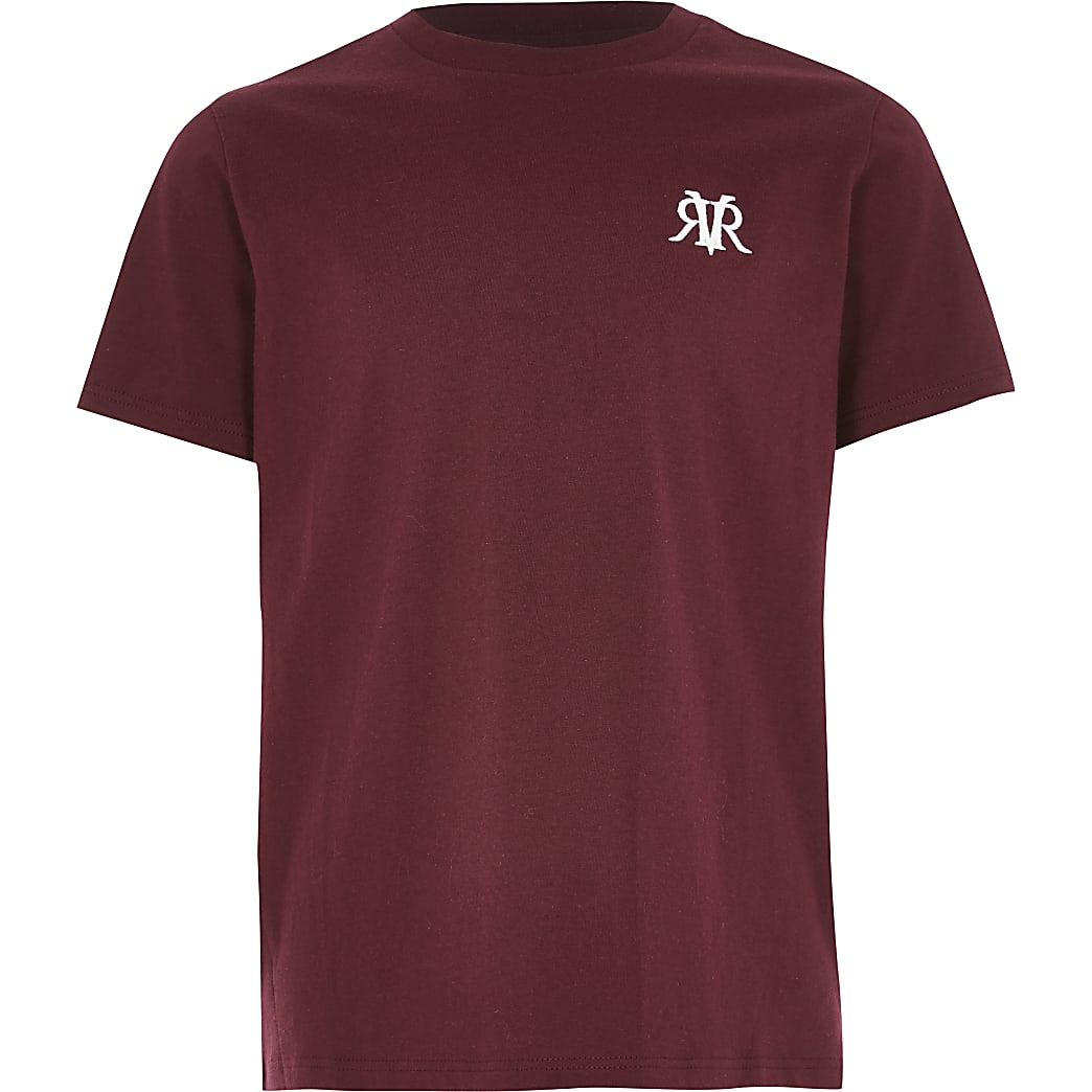 Boys red RVR short sleeve T-shirt