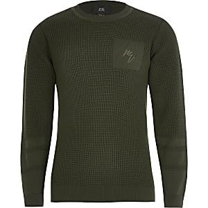 Maison Riviera - Kaki trui voor jongens