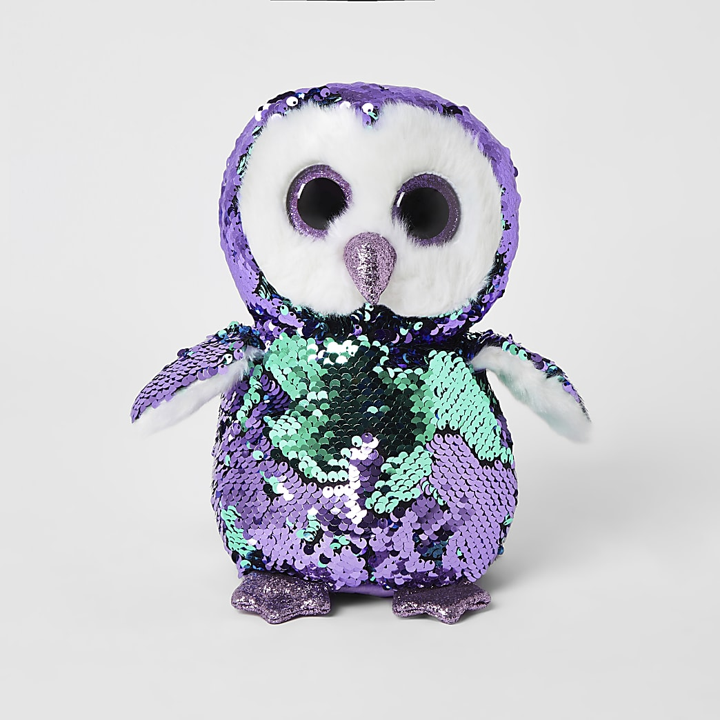 TY purple sequin embellished penguin