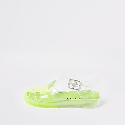 Mini boys green Prolific jelly sandals