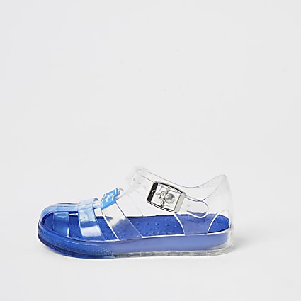 Mini boys blue Prolific jelly sandals