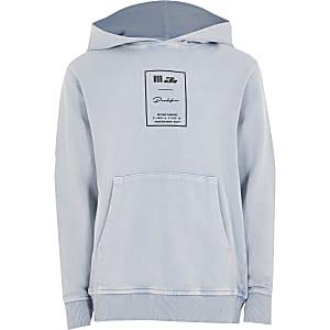 Prolific - Blauwe acid wash hoodie voor jongens