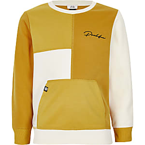 Prolific – Sweat jaune colour block pour garçon