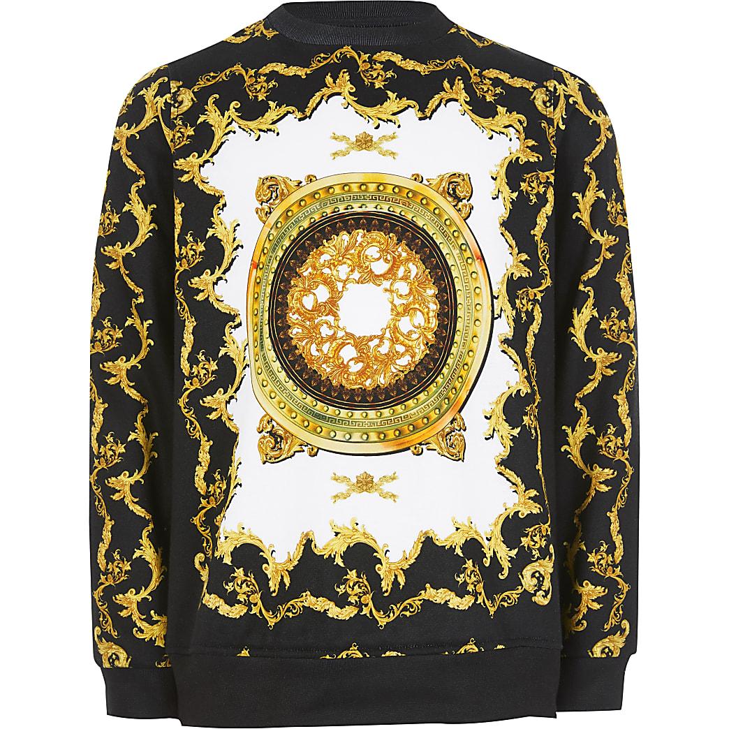 Schwarzes Barock-Sweatshirt  für Jungen