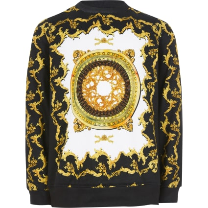 Boys black baroque sweatshirt