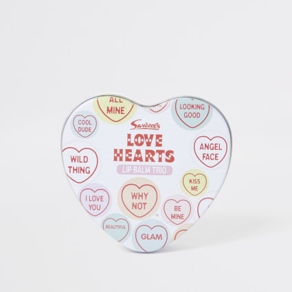 Girls Love Hearts lip balm set