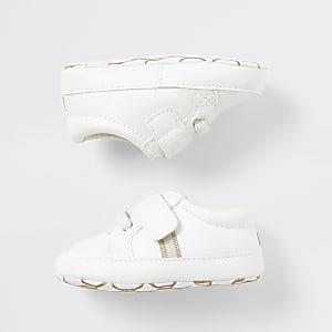 """Weiße Sneaker""""Team cute"""" für Babys"""