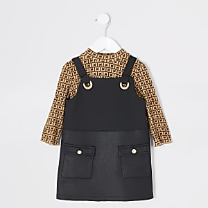 Tenue RI avec robe chasuble noire Minifille