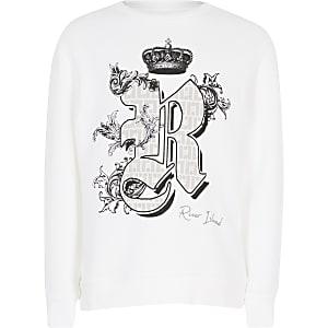 Wit sweatshirt met print voor kids