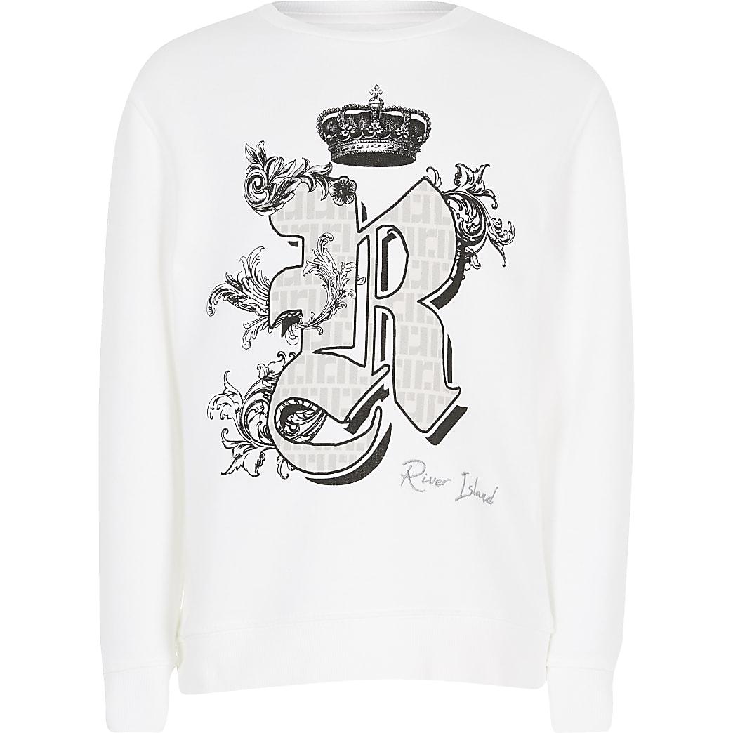 Weißes Sweatshirt mit Print für Kinder