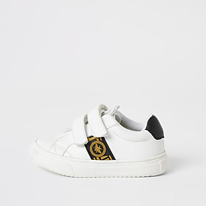 Mini boys white greek wasp velcro trainers