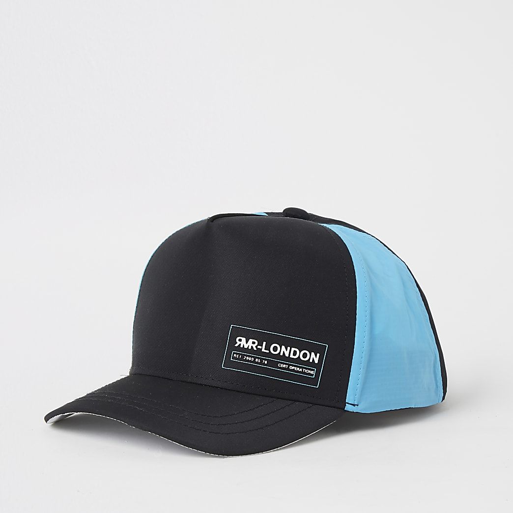Mini boys black colour blocked cap