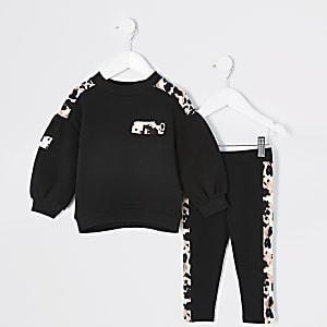 Mini – Utility-Outfit mit Leoprint für Mädchen