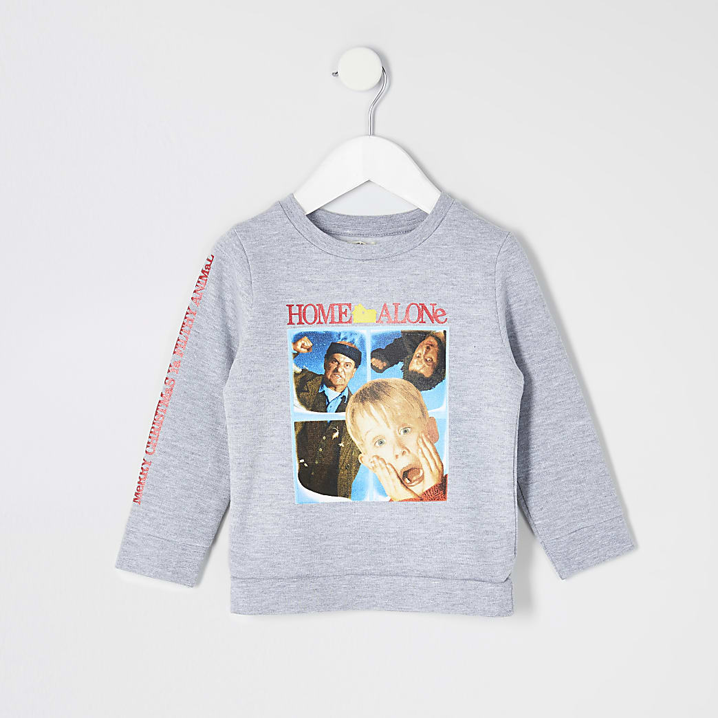 Mini boys grey 'Home Alone' sweatshirt