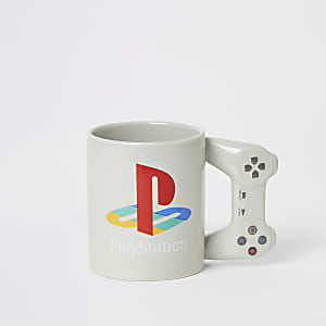 Graue Tasse mit PlayStation-Motiv für Jungen