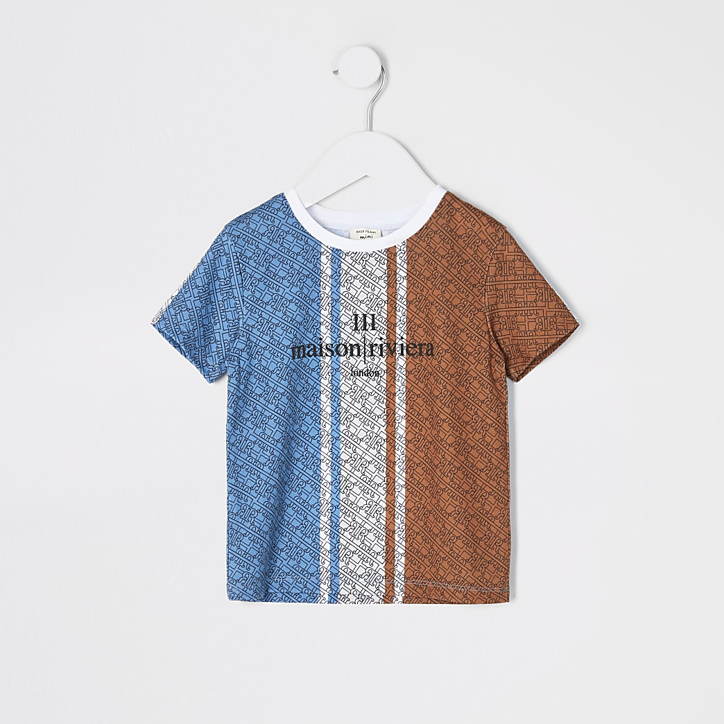 Mini boys blue printed Maison Riviera T-shirt