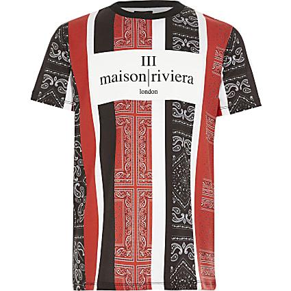 Boys Maison Riviera bandana print T-shirt