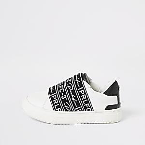 Mini - Prolific - Witte sneakers met bandjes voor jongens